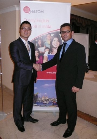 양길준 with President of Feltom, Malta.png